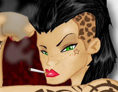 Pin Up Female Character