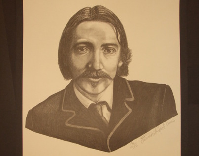 Robert Louis Stevenson Poster Illustration