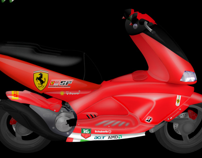 Redesign Aprilia Area 51 Ferrari tribute