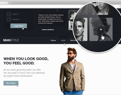 Mens Hair Salon - Beauty PSD Theme