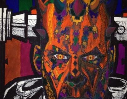 Darth Maul in Jigsaw pieces