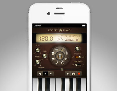 Rocket Piano UI design & concept for app.