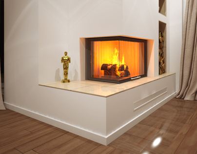 Corner Fireplace // Spartherm #1