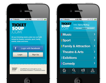 TicketSOUP Concept App Design