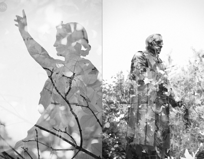 Natural commemoration (Double exposures)