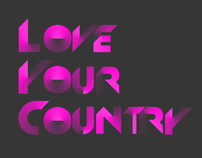 Love your country Typography
