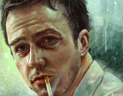 portrait of Edward norton