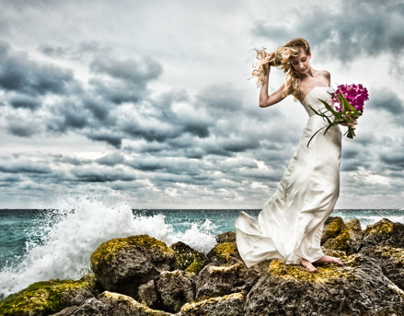 Miami Beach wedding magazine shoot