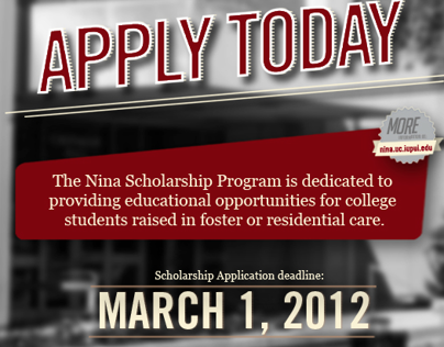 Nina Scholarship Program Ads