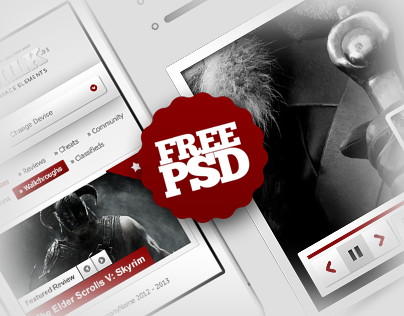 REDMILK FREE UI Elements (PSD)