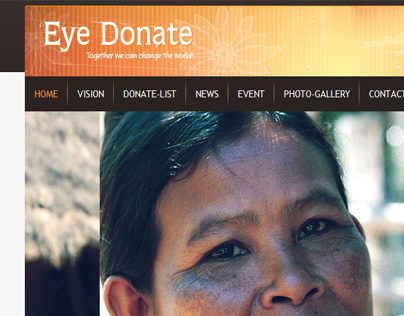 Eye-Donate Website Coding work