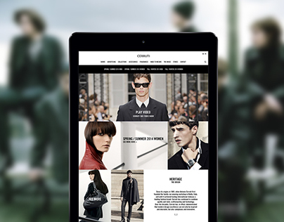 Cerruti website