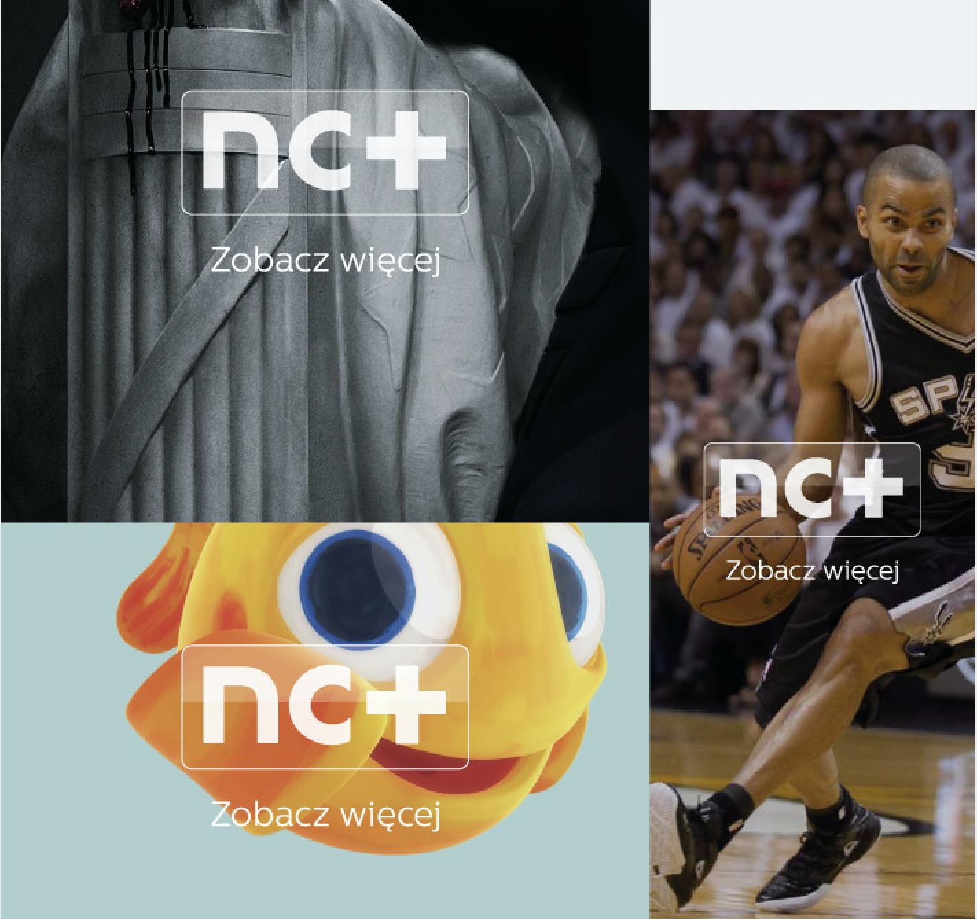 nc+ satellite tv branding