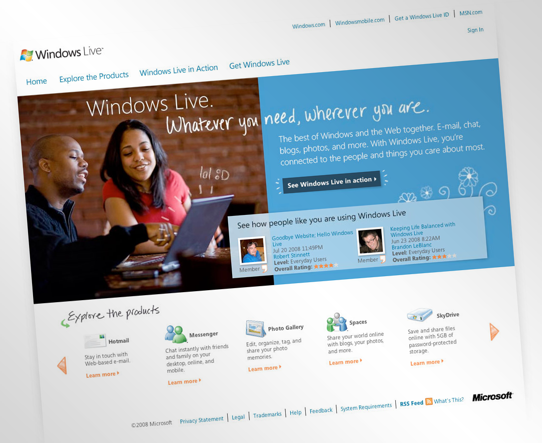 Microsoft Windows Live — Phase 1 Relaunch