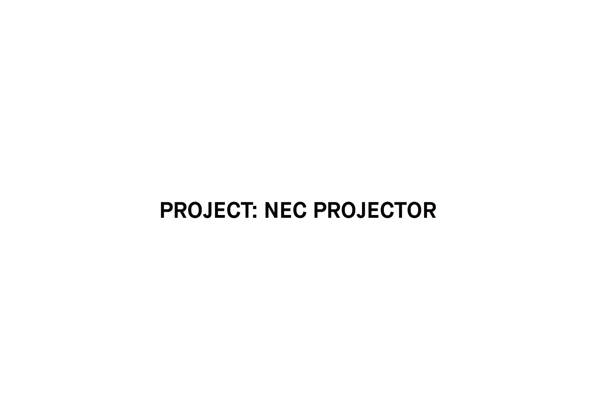 NEC Projector Project
