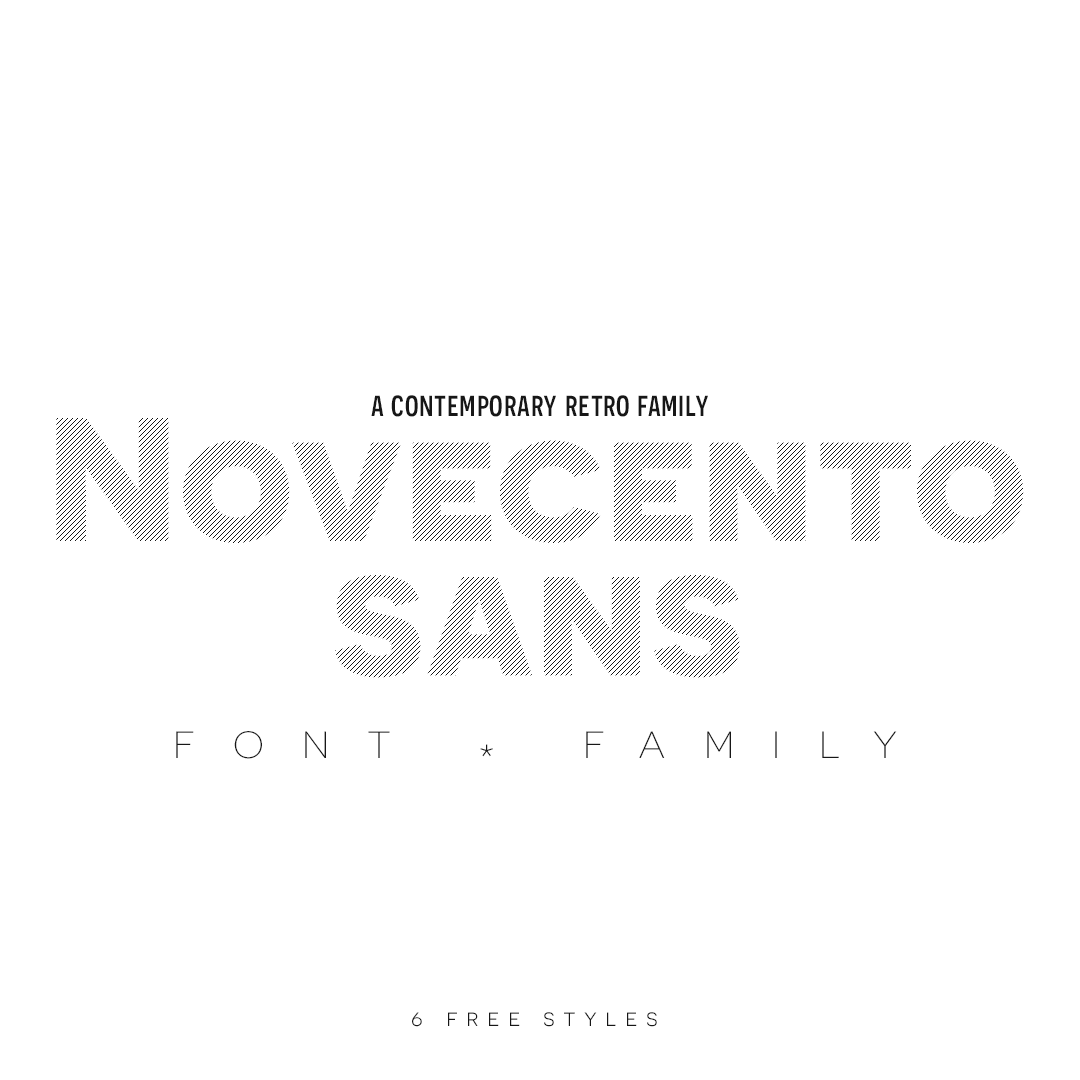 Novecento Sans | new version October 2013