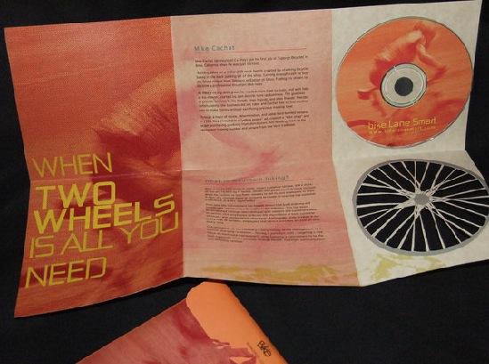 CD sleeve  & brochure mountain biking