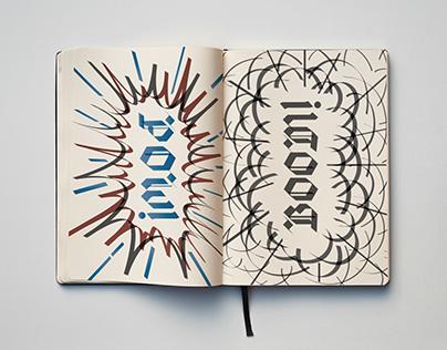 Comic Book Calligraphy