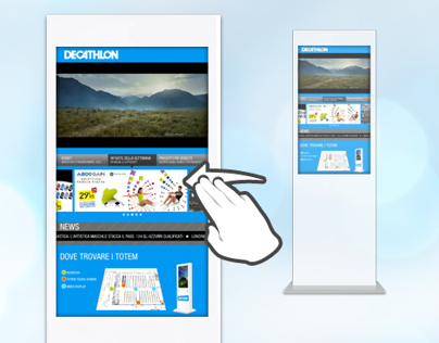 Digital Signage UI for DECATHLON