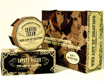 The Art of Shaving Knock-Down Packaging Design
