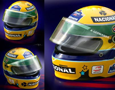 Senna F1 Helmet 3d
