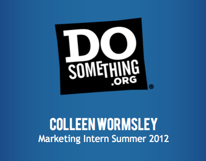 Internship: DoSomething.org, Marketing Strategy Intern