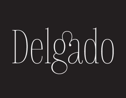 Delgado font