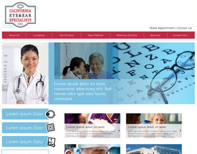 California Eye & Ear Website Design