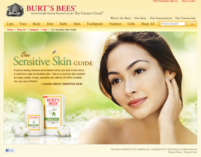 Burts Bee Sensitive Skin Guide