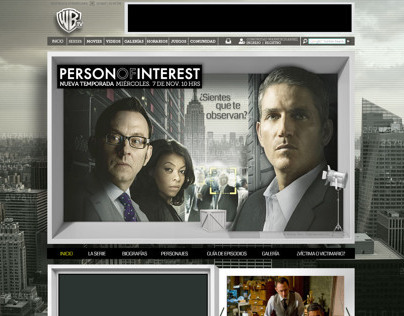 Web Site Person Of Interest / Warner Channel / Merlin