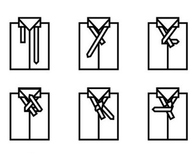 """How To Tie A Tie"" Icon Series"