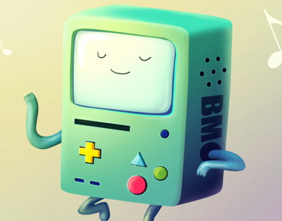 "Beemo - ""Adventure Time"" fan art"