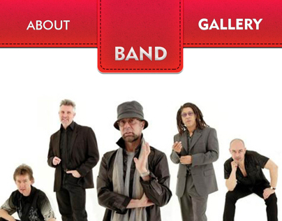 BAND mobile website design