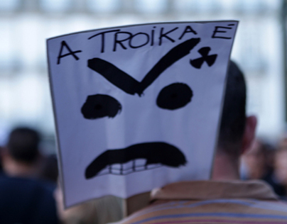 Protest against austerity in Porto