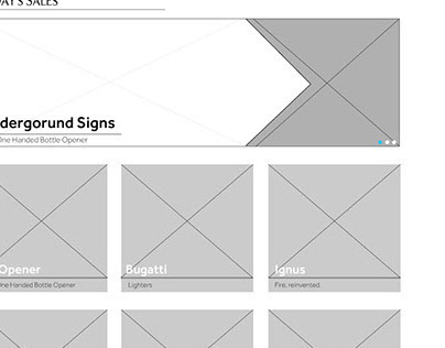 Wireframes and Proposals