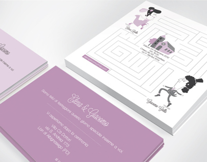 Wedding Invitation For Elena & Jack