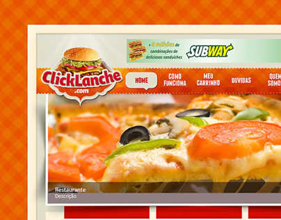 Click Lanche website
