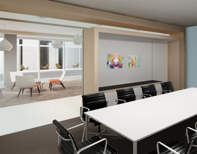 Workspace interiors for a global investment group