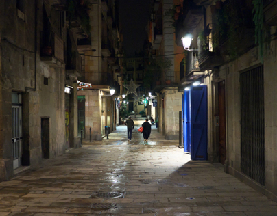When the night falls (El Borne, Barcelona)