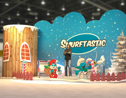 Smurftastic Photo corner - White Christmas Theme