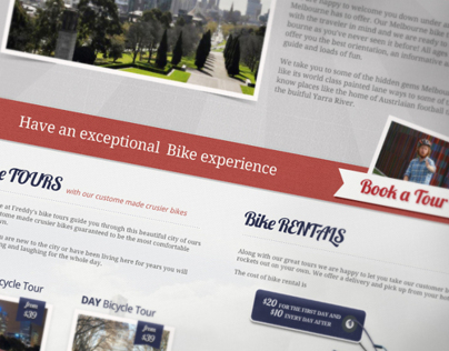 Webdesign & Flyers for Bike tours