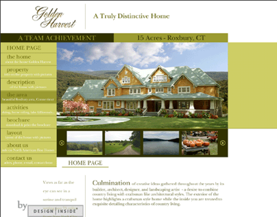 The Golden Harvest: Brochure and Website