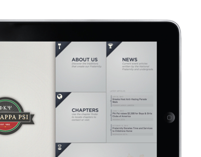 Fraternity iPad App UI Design