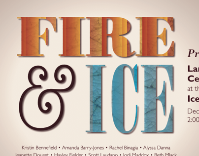 Fire and Ice Ceramic Show Postcard
