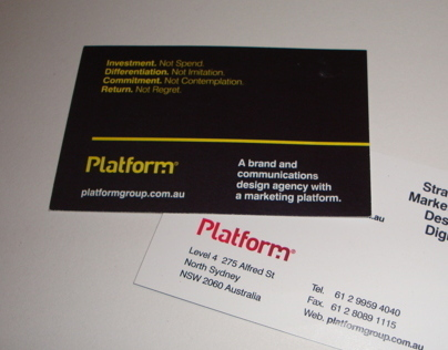 Platform Group Business Card Designs