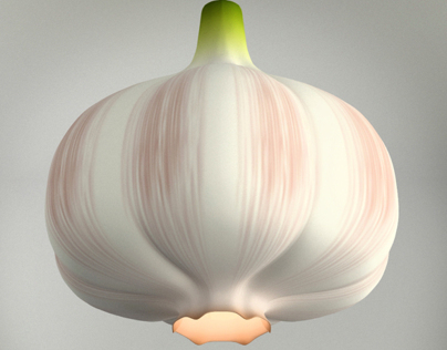Garlic lamp