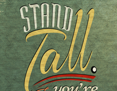 Stand tall. If youre short, bring a chair to stand on.