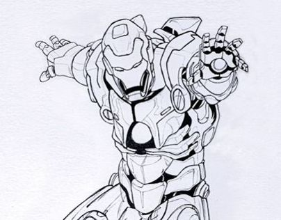 Ironman Fan art Drawing.