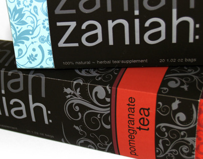 Zaniah Tea Packaging