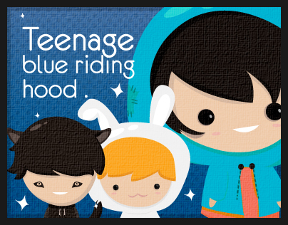 Teenage Blue Riding Hood